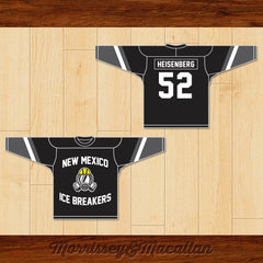 Walter White Heisenberg 52 New Mexico Ice Breakers Hockey Jersey by Morrissey&Macallan - borizcustom - 3