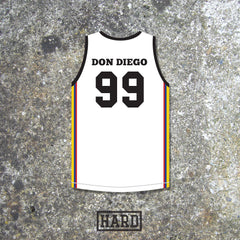 Don Diego 99 Norte del Valle Cartel Colombia Basketball Jersey by HARD - borizcustom - 3