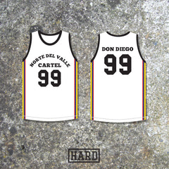 Don Diego 99 Norte del Valle Cartel Colombia Basketball Jersey by HARD - borizcustom - 2