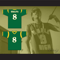 Wiz Khalifa 8 N. Hale High School Football Jersey Young, Wild and Free