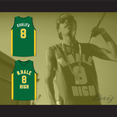 Wiz Khalifa 8 N. Hale High School Basketball Jersey Young, Wild and Free