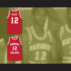 Rapper Cameron Giles 12 Navarro College Red Basketball Jersey