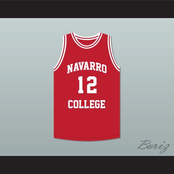 Cameron Giles 12 Navarro College Red Basketball Jersey