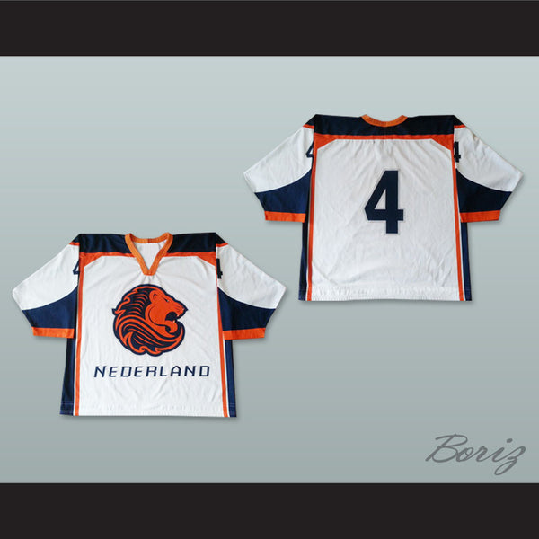 0e2a202db9a ... Holland Jersey Hockey: Nederland National Team White Hockey Jersey