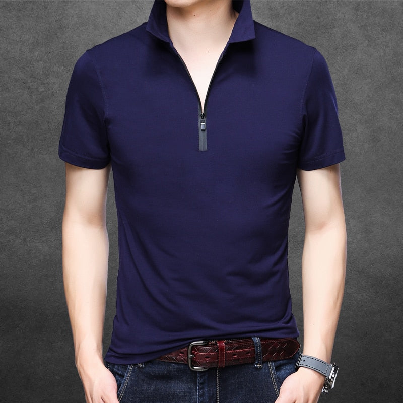 New 2018 Summer Mens Slim Plain Color Polo Shirts Male Fashion Design Borizcustom