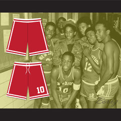 Michael Bivins 10 New Edition Red Basketball Shorts