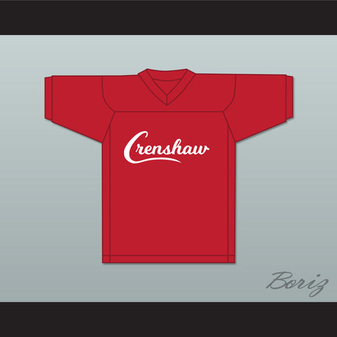Nipsey Hussle 33 Crenshaw Red Football Jersey