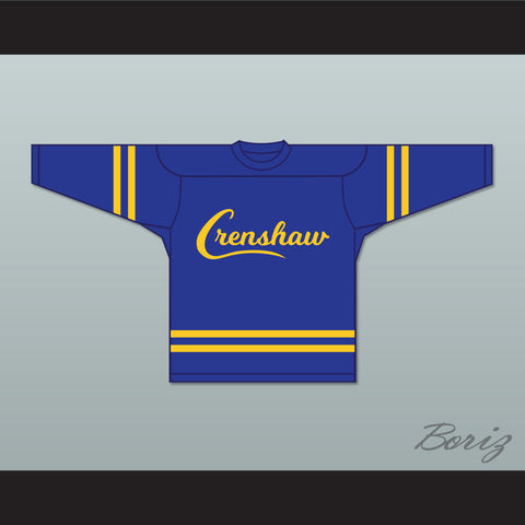Nipsey Hussle 33 Crenshaw Blue and Yellow Hockey Jersey