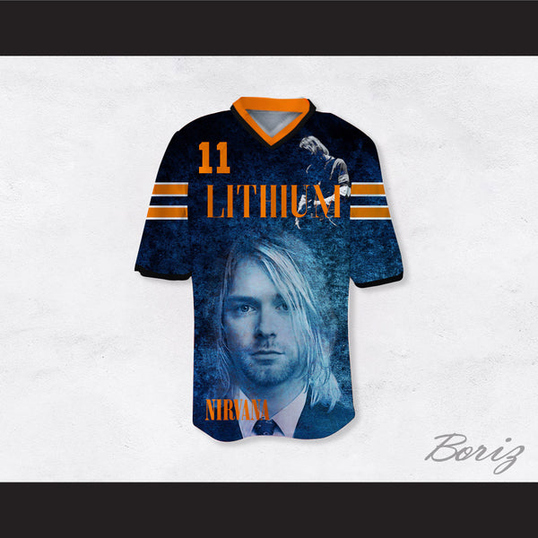 Kurt Cobain 11 Nirvana Lithium Football Jersey