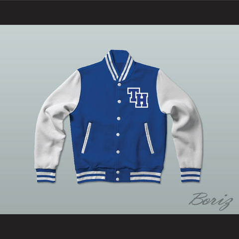 Nathan Scott One Tree Hill Ravens Blue Varsity Letterman Jacket-Style Sweatshirt - borizcustom - 1