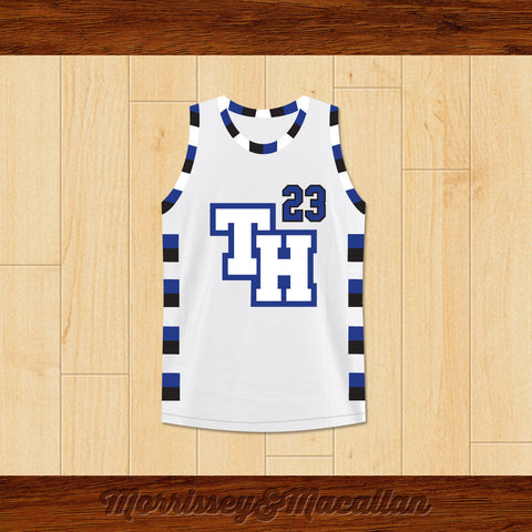 Nathan Scott 23 One Tree Hill Ravens Basketball Jersey by Morrissey&Macallan - borizcustom