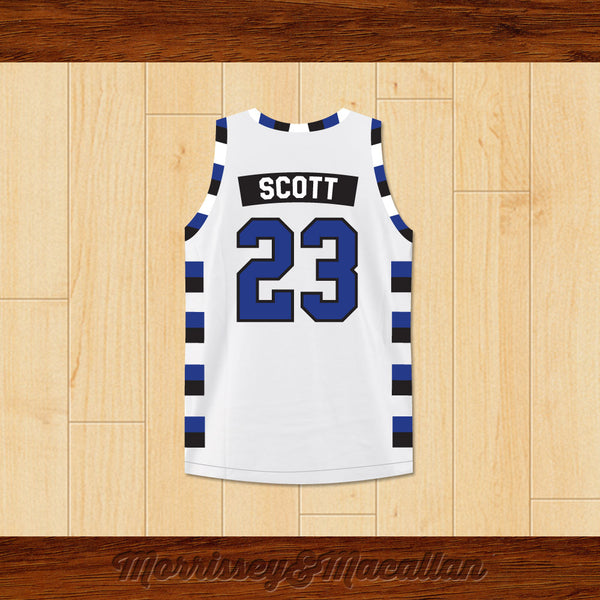 49ad7622d Nathan Scott 23 One Tree Hill Ravens Basketball Jersey by Morrissey Macallan