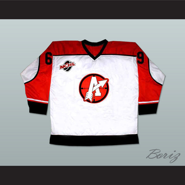 "Doug ""The Thug"" Glatt GOON Movie Orangetown Assassins Hockey Jersey Includes NCHL Patch - borizcustom"