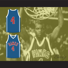 Mekhi Phifer Odin James 4 Hawks Blue Basketball Jersey O Movie - borizcustom