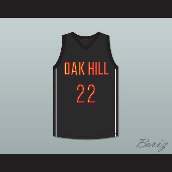 the latest f38cc f2c7a Carmelo Anthony 22 Oak Hill Academy Black Basketball Jersey