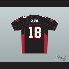 Adam Sandler 18 Paul Crewe Mean Machine Convicts Football Jersey Includes Patches - borizcustom