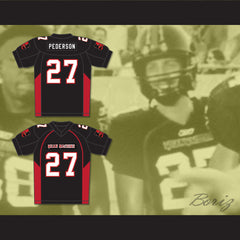 27 Pederson Mean Machine Convicts Football Jersey Includes Patches - borizcustom