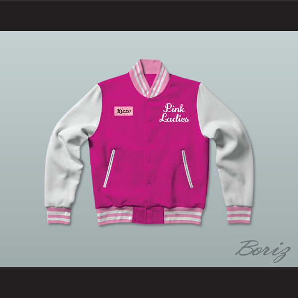 Betty Rizzo Pink Ladies Letterman Jacket-Style Sweatshirt - borizcustom - 1