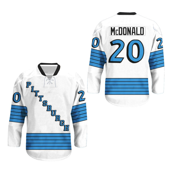McDONALD Pittsburgh Hockey Jersey Stitched #20