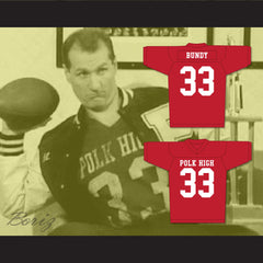 Al Bundy Polk High Football Jersey Married With Children Ed O' Neill Red - borizcustom
