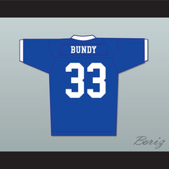 Al Bundy 33 Polk High Football Jersey Married With Children Ed O' Neill Blue with White Trim - borizcustom