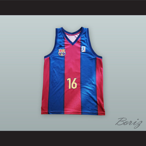 best cheap 7ee2b 5ece3 Pau Gasol 16 FC Barcelona Basketball Jersey
