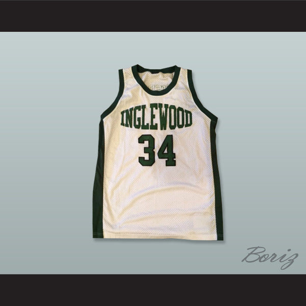the best attitude 51973 ee5bc Paul Pierce 34 Inglewood High School White Basketball Jersey