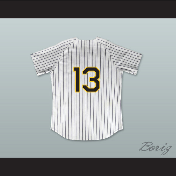 huge selection of af395 03a19 Pedro Cerrano 13 Buzz White Pinstriped Baseball Jersey Major League: Back  to the Minors