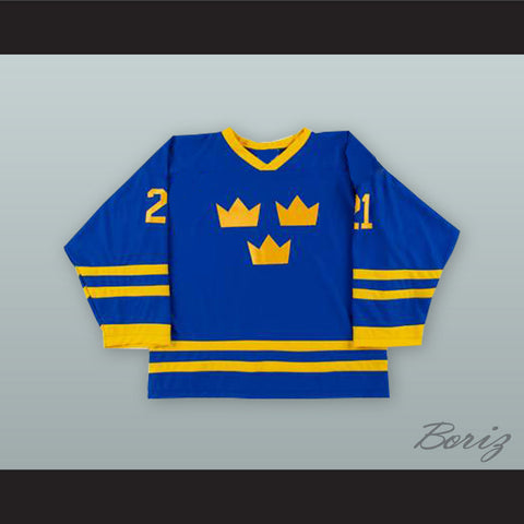 689621d0e Peter Forsberg 21 Sweden National Team Blue Hockey Jersey