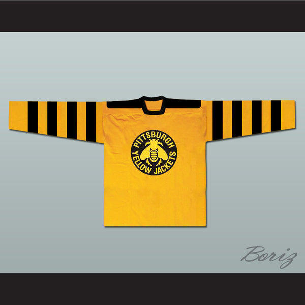 Pittsburgh Yellow Jackets Hockey Jersey Any Player or Number - borizcustom