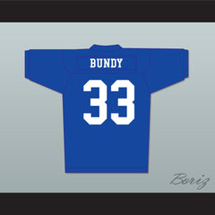 Al Bundy 33 Polk High Football Jersey Married With Children Ed O' Neill Blue - borizcustom