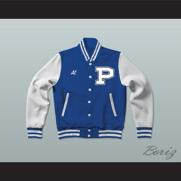 Al Bundy Polk High School Blue Varsity Letterman Jacket-Style Sweatshirt Married With Children - borizcustom - 1
