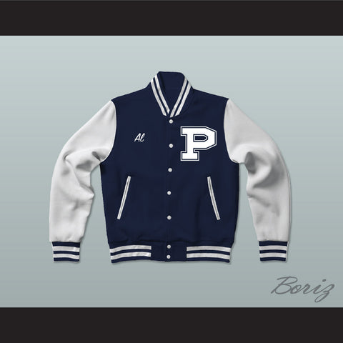 Al Bundy Polk High School Dark Blue Varsity Letterman Jacket-Style Sweatshirt Married With Children - borizcustom - 1