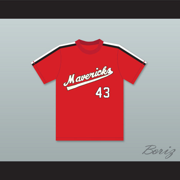 Jim Bouton 43 Portland Mavericks Red Baseball Jersey The Battered Bastards of Baseball