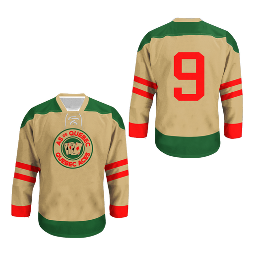 Quebec Aces Hockey Jersey Stitch Sewn Any Number Player New colors 696183250