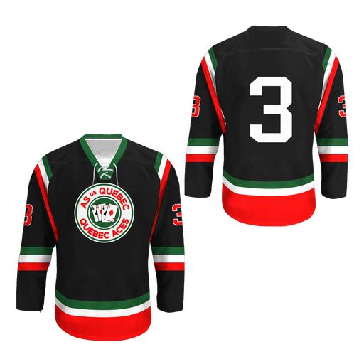 Quebec Aces Hockey Jersey NEW Any Size Any Player or Number Stitch Colors c5e5035a3