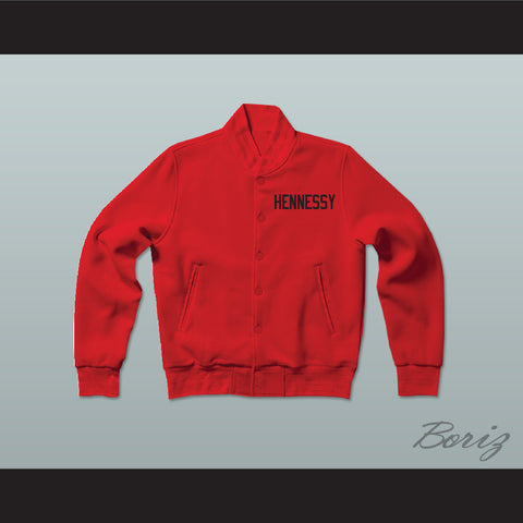 Prodigy 95 Hennessy Queens Bridge Red Varsity Letterman Jacket-Style Sweatshirt - borizcustom - 1