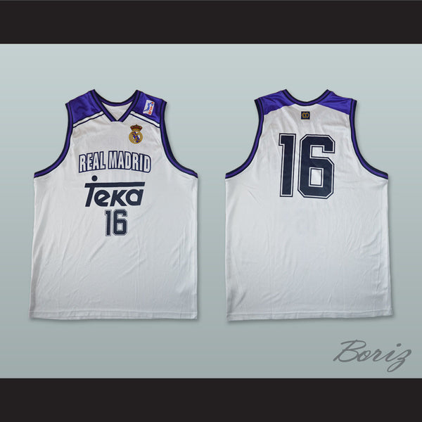 buy popular 92a64 d801b Hector Garcia 16 Real Madrid Basketball Jersey