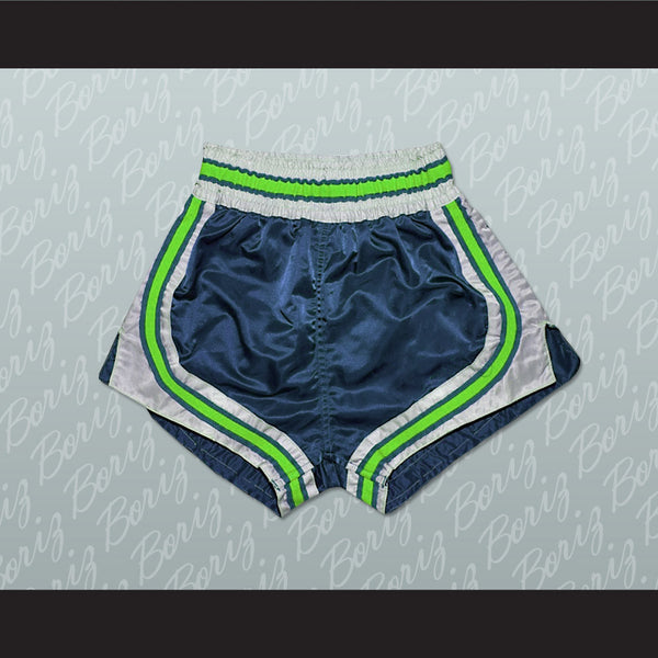 Dark Blue-Light Green-White Retro Style Basketball Shorts All Sizes - borizcustom