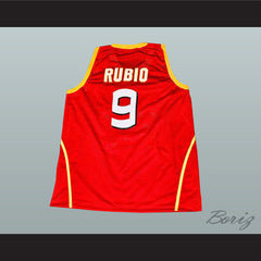 Ricky Rubio Basketball Jersey Sewn Stitch Barcelona Spain All Sizes New - borizcustom - 2