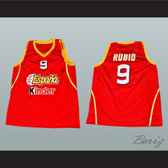 Ricky Rubio Basketball Jersey Sewn Stitch Barcelona Spain All Sizes New - borizcustom - 3