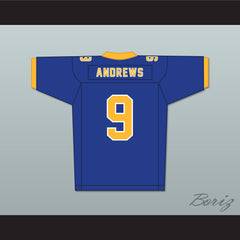 Archie Andrews 9 Riverdale High School Blue Football Jersey