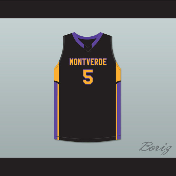 finest selection 3b66e 406a9 R.J. Barrett 5 Montverde Academy Eagles Black Basketball Jersey