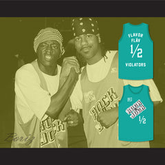 Flavor Flav 1/2 Violators Basketball Jersey 3rd Annual Rock N' Jock B-Ball Jam 1993