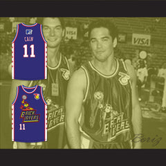 Dean Cain 11 Bricklayers Basketball Jersey 7th Annual Rock N' Jock B-Ball Jam 1997