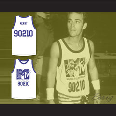 Luke Perry 90210 Basketball Jersey First Annual Rock N' Jock B-Ball Jam 1991 - borizcustom