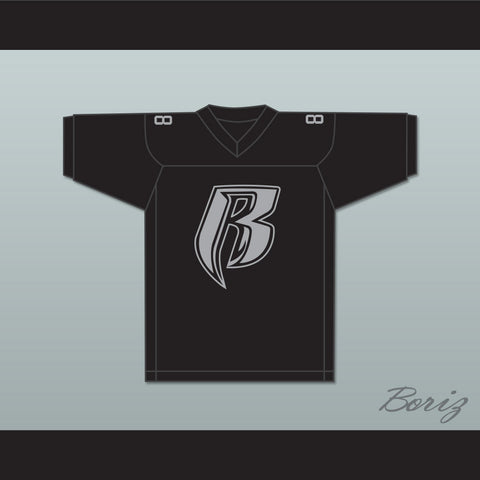 The LOX Rough Ryders 88 Black Football Jersey
