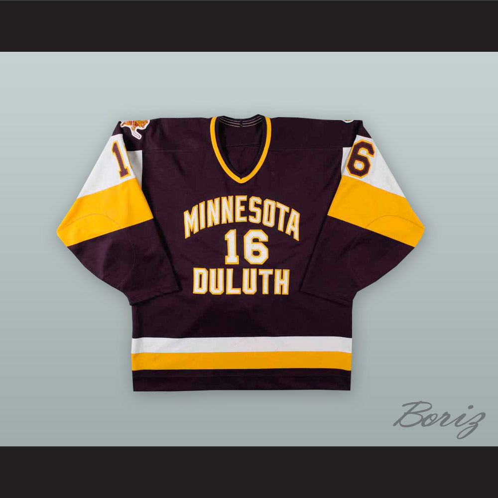 on sale 25d70 6c28d Rich Anderson 16 University of Minnesota-Duluth Bulldogs Hockey Jersey