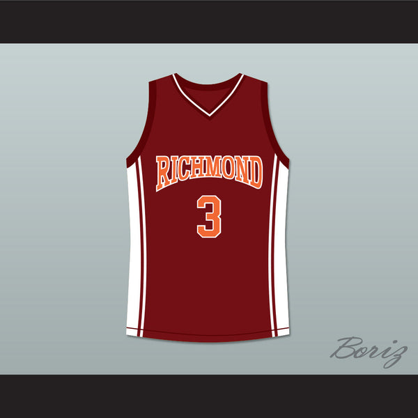 Antwon Tanner Jaron 'Worm' Willis 3 Richmond Oilers Home Basketball Jersey Coach Carter - borizcustom