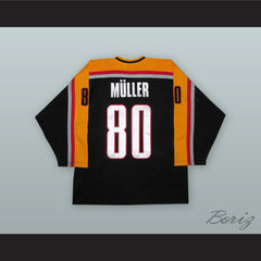 Robert Muller 80 Germany National Team Black Hockey Jersey with Patch